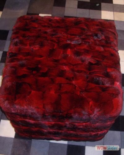 Pouf Rosso in Chinchillà