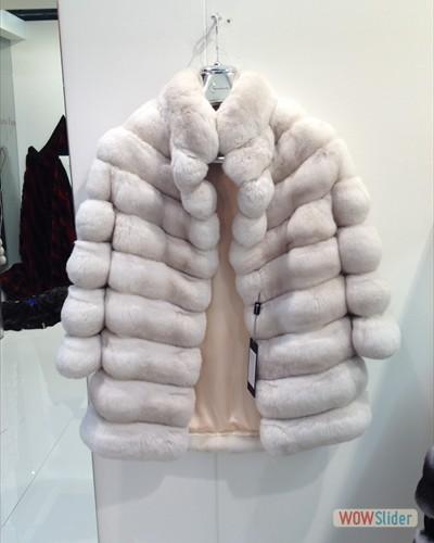 Giacchino in chinchillà snow pink